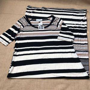 Jessica Simpson Striped Short Sleeve Maxi Dress